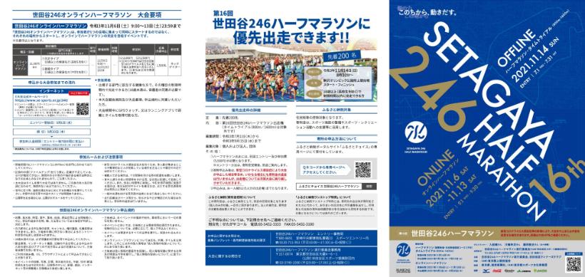 世田谷246ハーフマラソン チラシ